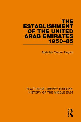 The Establishment of the United Arab Emirates 1950-85 book cover