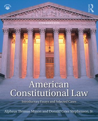American Constitutional Law: Introductory Essays and Selected Cases book cover