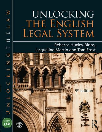 Unlocking the English Legal System: 5th Edition (Paperback) book cover