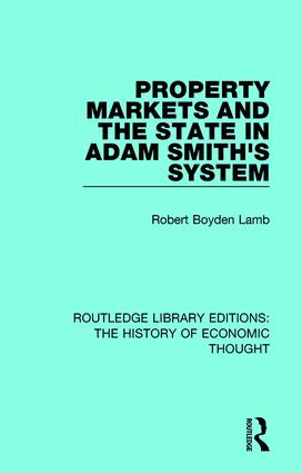 Property Markets and the State in Adam Smith's System book cover