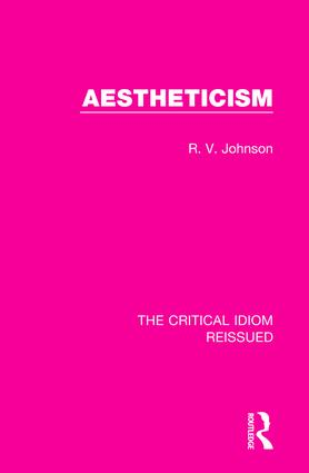 Aestheticism: 1st Edition (Paperback) book cover