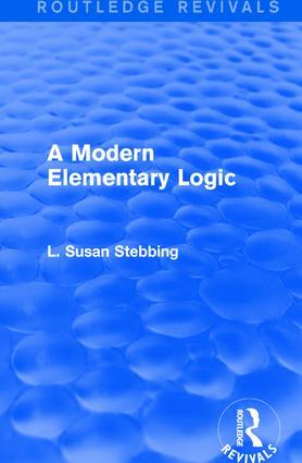 Routledge Revivals: A Modern Elementary Logic (1952)