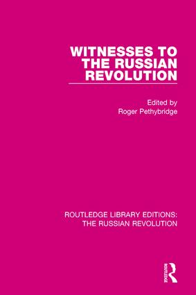 Witnesses to the Russian Revolution book cover