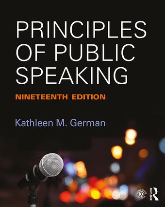 Principles of Public Speaking: 19th Edition (Paperback) book cover