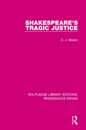 Shakespeare's Tragic Justice book cover