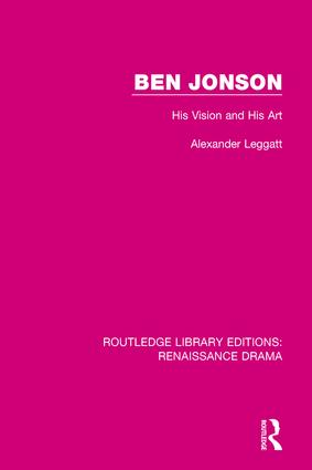 Ben Jonson: His Vision and His Art book cover