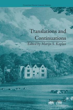 Translations and Continuations: Riccoboni and Brooke, Graffigny and Roberts, 1st Edition (Paperback) book cover