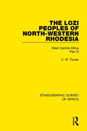 The Lozi Peoples of North-Western Rhodesia