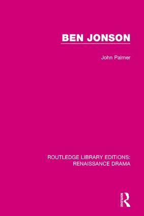 Ben Jonson: 1st Edition (Hardback) book cover