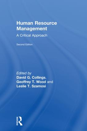 Human Resource Management: A Critical Approach book cover