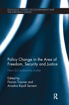 Policy change in the Area of Freedom, Security and Justice: How EU institutions matter book cover