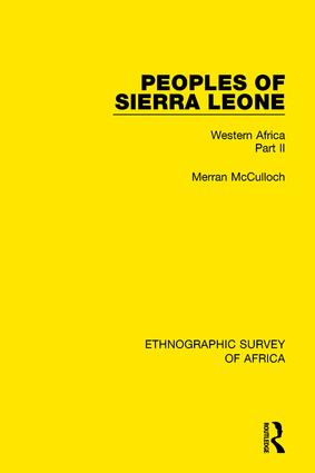 Peoples of Sierra Leone: Western Africa Part II, 1st Edition (Paperback) book cover