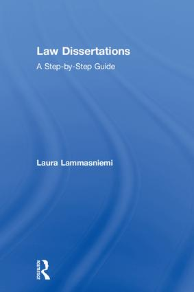 Law Dissertations: A Step-by-Step Guide book cover