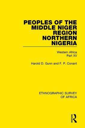 Peoples of the Middle Niger Region Northern Nigeria: Western Africa Part XV book cover