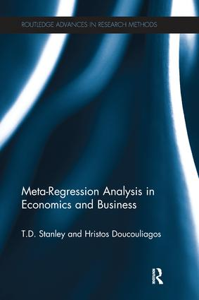 Meta-Regression Analysis in Economics and Business (Paperback) book cover