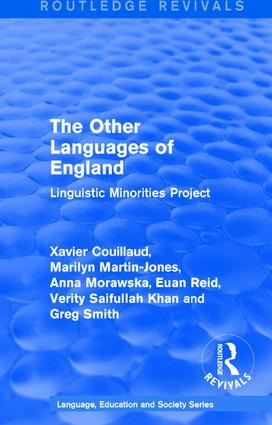 Routledge Revivals: The Other Languages of England (1985): Linguistic Minorities Project book cover