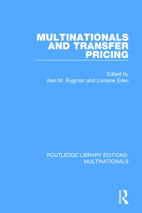 Multinationals and Transfer Pricing (Hardback) book cover