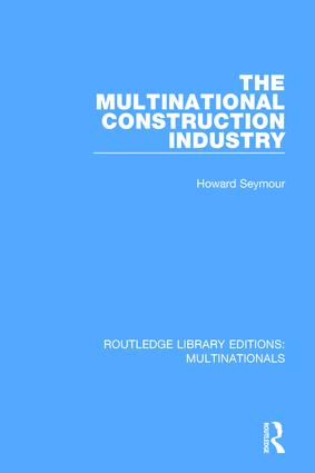 The Multinational Construction Industry book cover