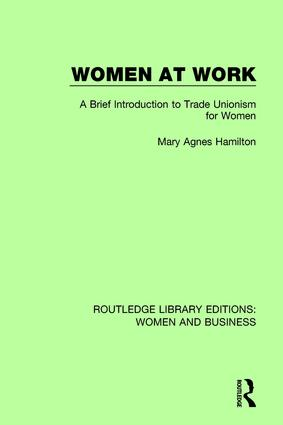 Women at Work: A Brief Introduction to Trade Unionism for Women book cover