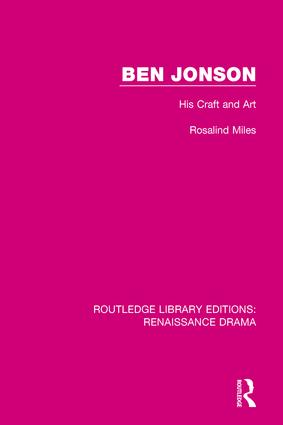 Ben Jonson: His Craft and Art book cover