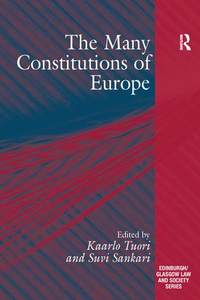The Many Constitutions of Europe: 1st Edition (Paperback) book cover