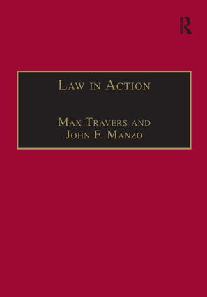 Law in Action: Ethnomethodological and Conversation Analytic Approaches to Law, 1st Edition (Paperback) book cover