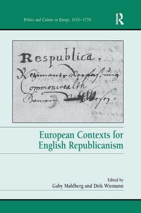 European Contexts for English Republicanism book cover