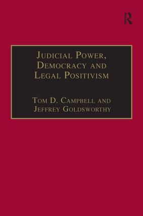 Judicial Power, Democracy and Legal Positivism book cover