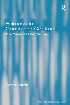 Fairness in Consumer Contracts: The Case of Unfair Terms book cover