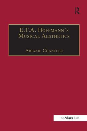 E.T.A. Hoffmann's Musical Aesthetics (Paperback) book cover
