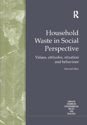 Household Waste in Social Perspective: Values, Attitudes, Situation and Behaviour, 1st Edition (Paperback) book cover