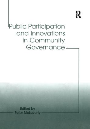 Public Participation and Innovations in Community Governance: 1st Edition (Paperback) book cover