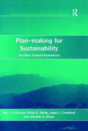 Plan-making for Sustainability: The New Zealand Experience, 1st Edition (Paperback) book cover