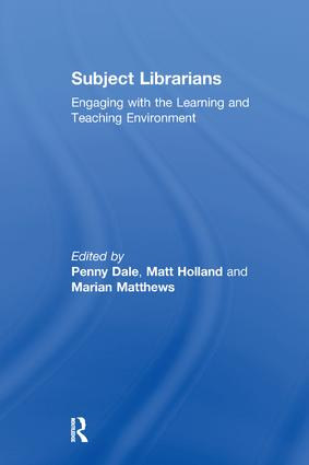 Subject Librarians: Engaging with the Learning and Teaching Environment book cover
