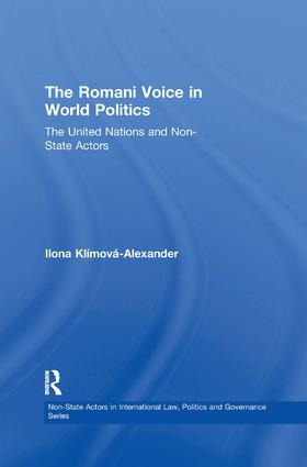 The Romani Voice in World Politics: The United Nations and Non-State Actors, 1st Edition (Paperback) book cover