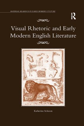 Visual Rhetoric and Early Modern English Literature book cover