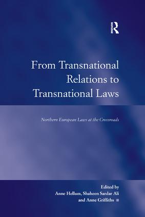 From Transnational Relations to Transnational Laws: Northern European Laws at the Crossroads, 1st Edition (Paperback) book cover