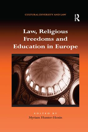Law, Religious Freedoms and Education in Europe: 1st Edition (Paperback) book cover