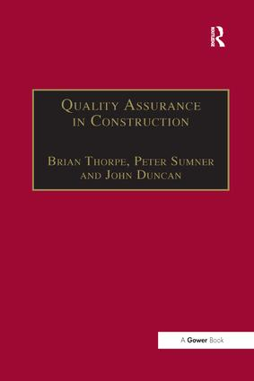 Quality Assurance in Construction book cover