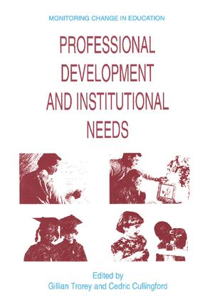 Professional Development and Institutional Needs