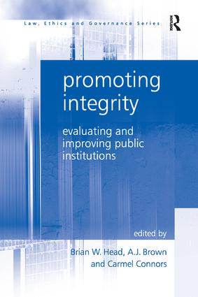 Promoting Integrity: Evaluating and Improving Public Institutions, 1st Edition (Paperback) book cover