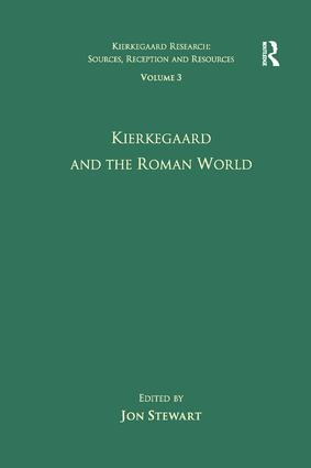 Volume 3: Kierkegaard and the Roman World (Paperback) book cover
