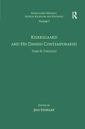Volume 7, Tome II: Kierkegaard and His Danish Contemporaries - Theology book cover