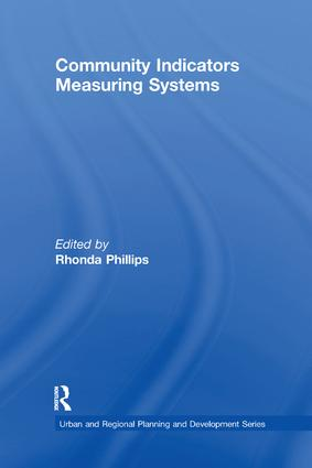 Community Indicators Measuring Systems: 1st Edition (Paperback) book cover