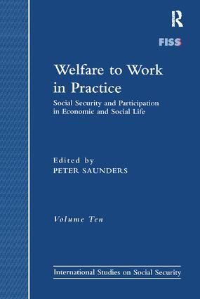 Welfare to Work in Practice: Social Security and Participation in Economic and Social Life, 1st Edition (Paperback) book cover