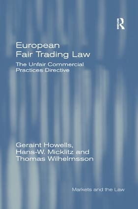 European Fair Trading Law: The Unfair Commercial Practices Directive book cover