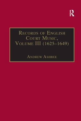 Records of English Court Music: Volume I (1660–1685), 1st Edition (Paperback) book cover