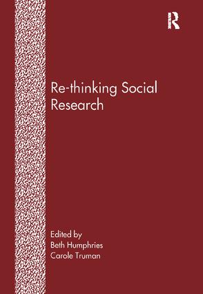 Re-Thinking Social Research: Anti-Discriminatory Approaches in Research Methodology, 1st Edition (Paperback) book cover