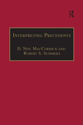 Interpreting Precedents: A Comparative Study book cover