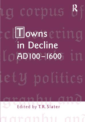 Towns in Decline, AD100–1600: 1st Edition (Paperback) book cover